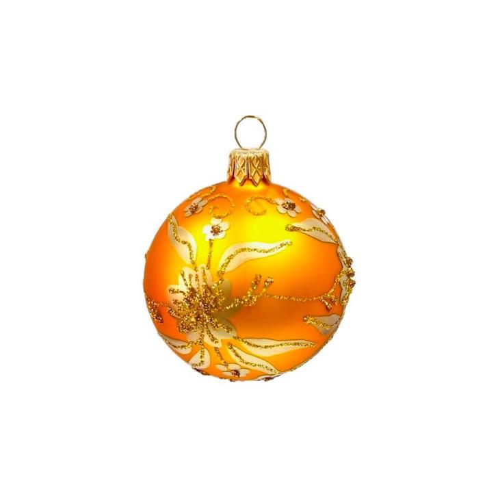 Golden Flower Mini Glass Ornament Bullarum