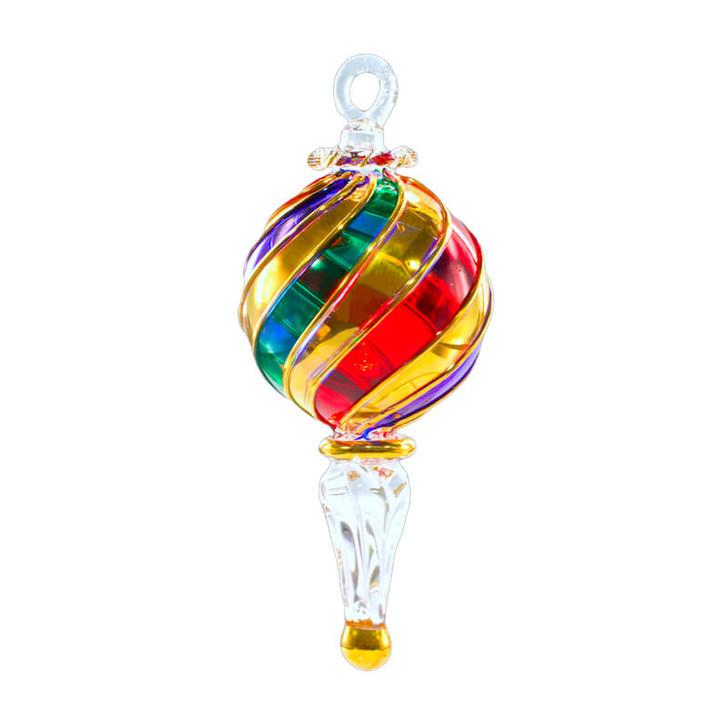 Infinity Diamond Glass Ornament