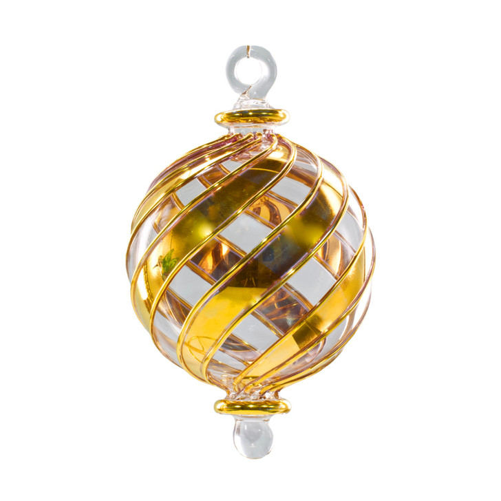 Infinity Gold Ornament