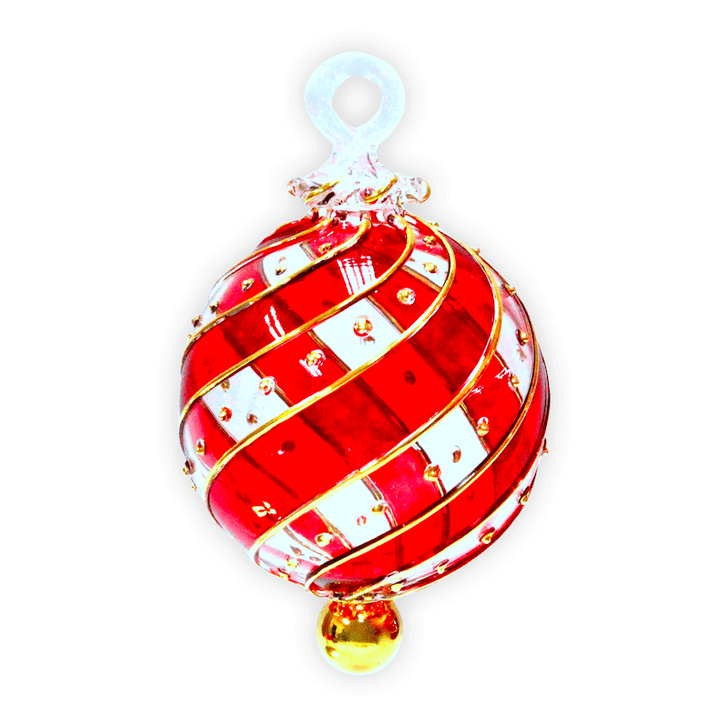 Infinity Red Glass Ornament