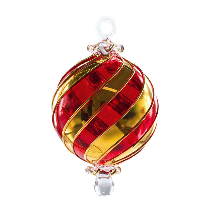 Infinity Red Gold Ornament