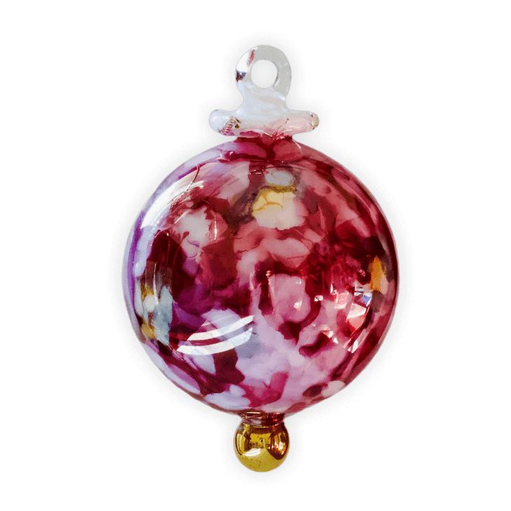 Marble Glow Purple Glass Ornament