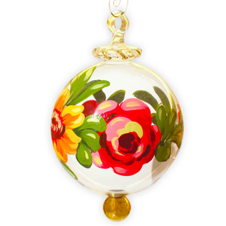 Peony Glass Ornament Large Bullarum