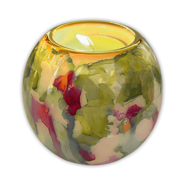 Candle Holder Barrel Marble Jade