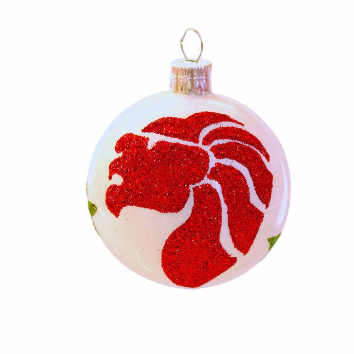 Merlion Glass Ornament handmade in Europe from Bullarum