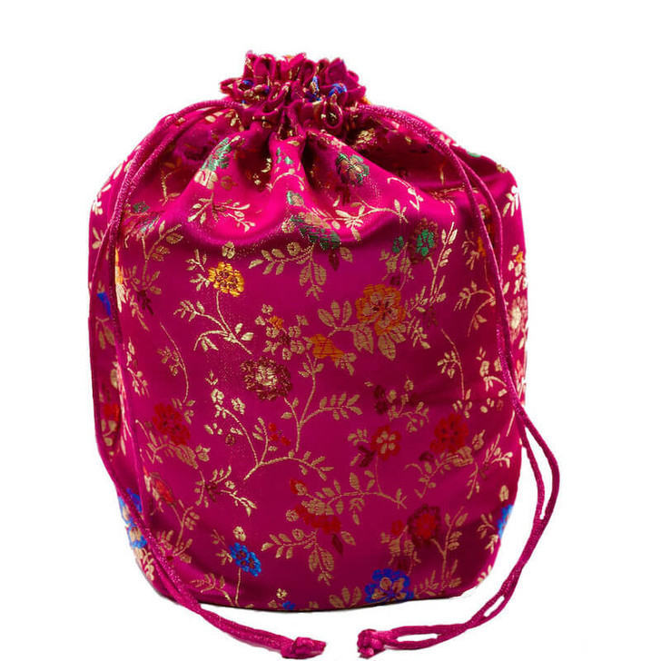 Brocade Gift Pouch Pink