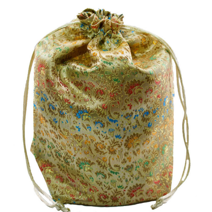 Brocade Gift Pouch Gold