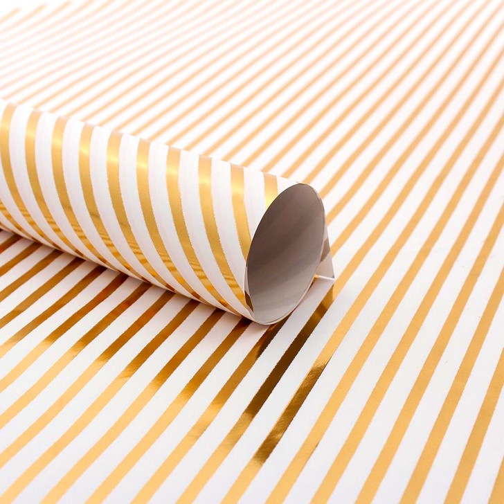 Gift Wrapping Paper - Golden Lines