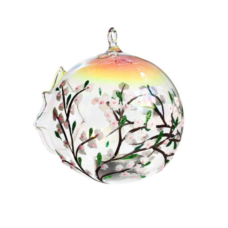 "Candle Holder Sphere Set ""Winter Blossom"""