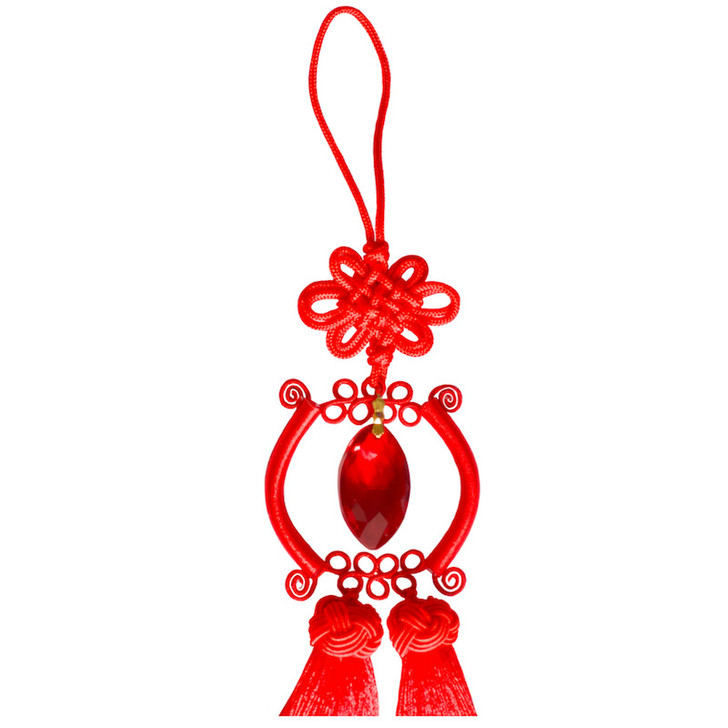 Lucky Knot Tassel Crystal Eternity