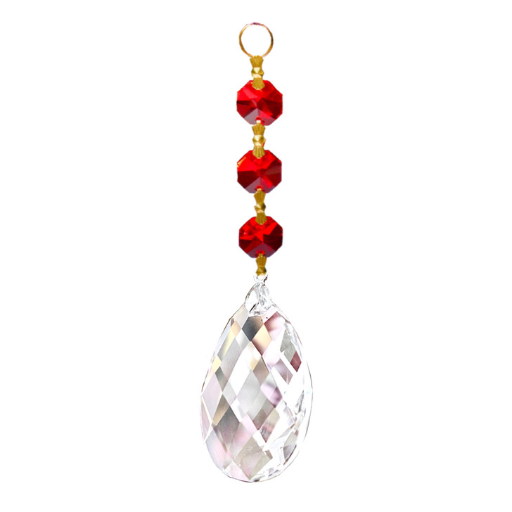 Suncatchers -  Red Diamond Cut