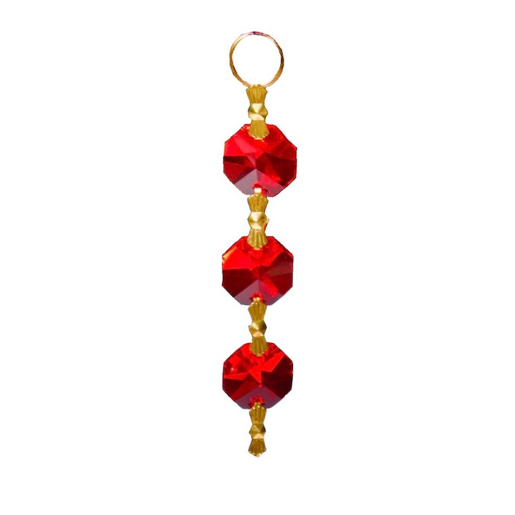 Red Crystal Mini Chain