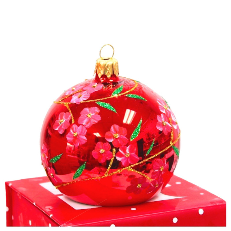 Plum Blossom Photo Holder Ornament (Ice Gold)