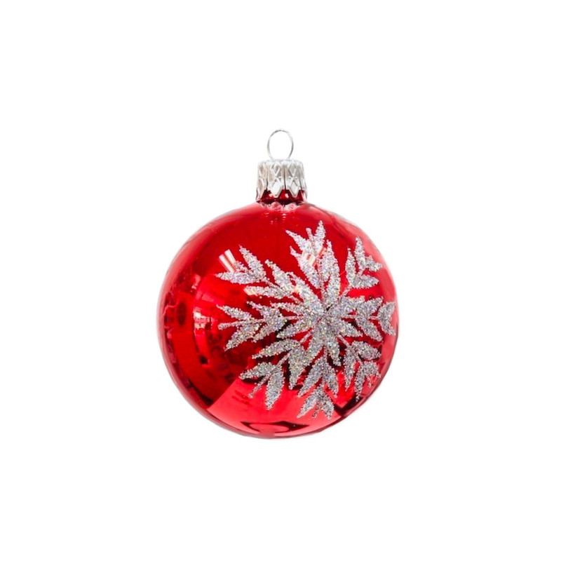 Silver Snowflake Mini Ornament (ice Red)