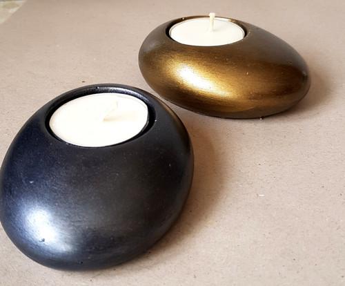 Pebble Tealight Holder (Om)
