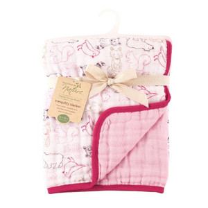 Tranquility Blanket - Pink Woodland