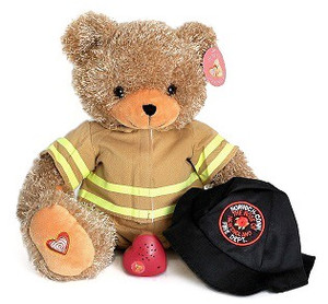 HeartBeat Firefighter Brown Bear