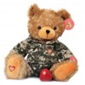 "EXCLUSIVE ""HERO COLLECTION"" HeartBeat Brown Bear - Military (includes Military outfit!)"