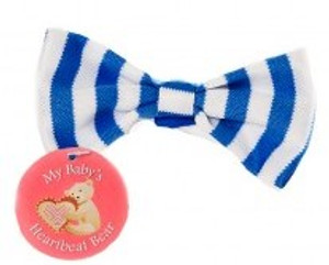 Blue & White Striped Bowtie