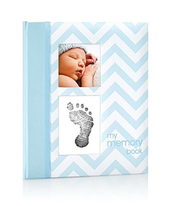 Baby Boy - Blue Baby Book with Clean-touch Ink