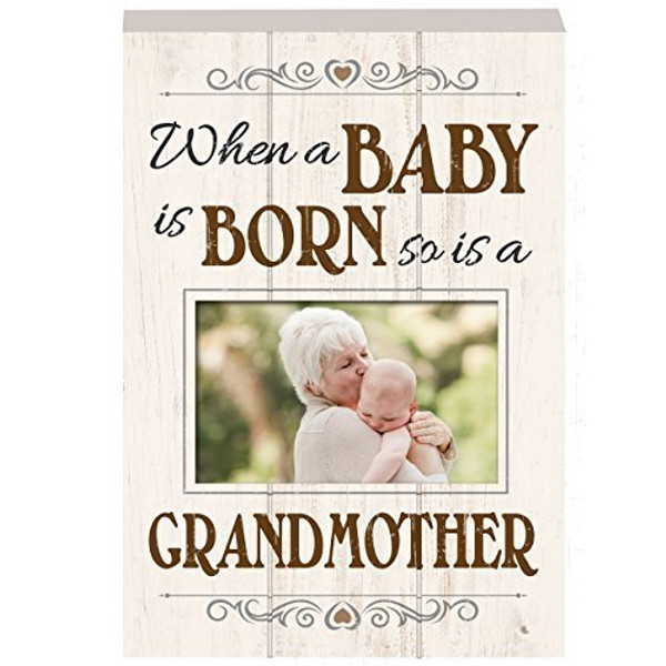 """Wooden Plaque - """"When a Baby is Born...so is a Grandmother"""""""
