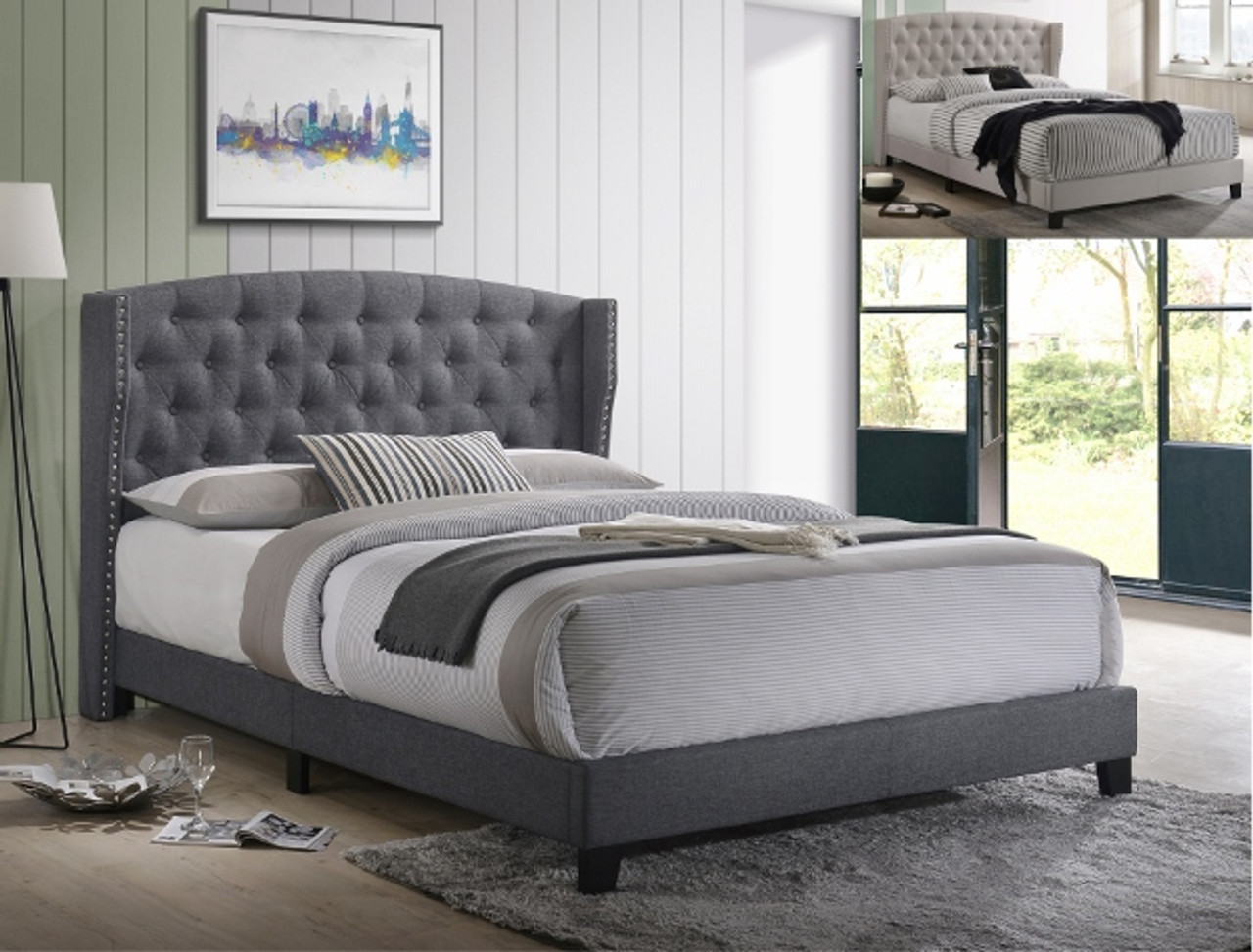 Rosemary Cal King Platform Bed Grey Finish On Sale At Montana S Home Furniture Serving Houston Tx