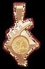 14K Gold FANCY DIAMOND SLIDE Bezel Panda 1/20oz.  Maple Leaf 1/20oz.
