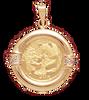 14K Gold DIAMOND RIBBED Bezel - Panda 1/20oz.,  Maple Leaf 1/20oz,
