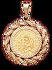 14K  Gold DIAMOND CUT LARGE ROPE BEZEL - Panda 1/20oz.