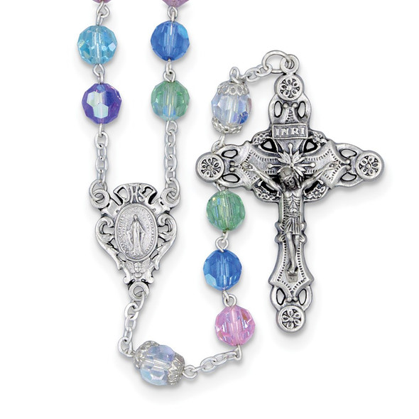 """24"""" Bohemian Multi-Color Rosary Necklace"""