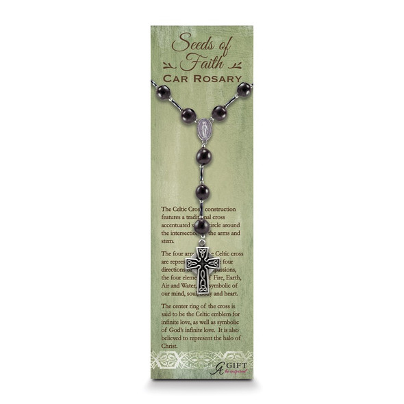"9.5"" Celtic Car Rosary"