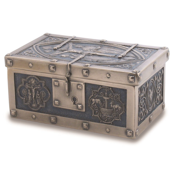 Crucifixion of Christ Medieval Style Rosary Box