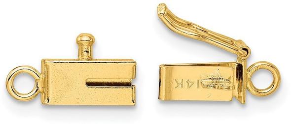 3.7mm 14k Yellow Gold Rectangular Barrel Clasp