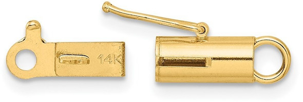 3.9mm 14k Yellow Gold Polished Barrrel Clasp
