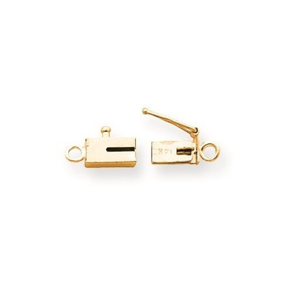 7.6mm x 3.7mm 14k Yellow Gold Replacement Tongue for Rectangle Barrel Clasp