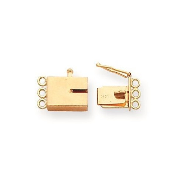 9.6mm x 6.9mm 14k Yellow Gold Replacement Tongue for Rectangle Barrel Clasp