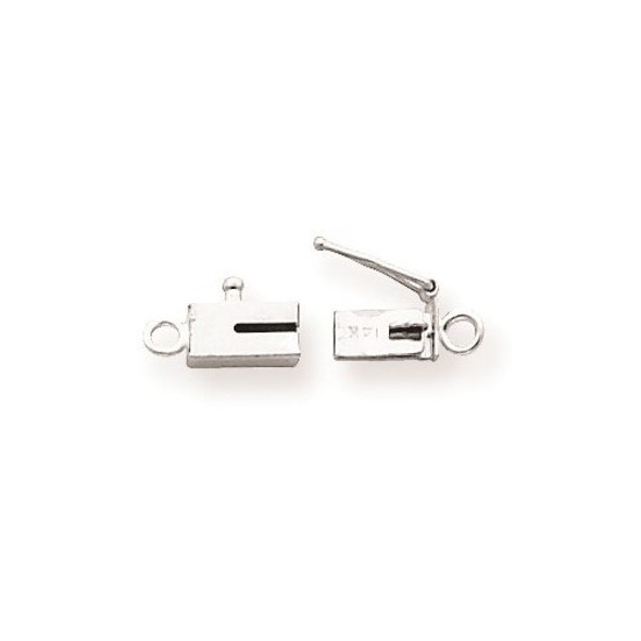 7.6mm x 3.7mm 14k White Gold Replacement Tongue for Rectangle Barrel Clasp