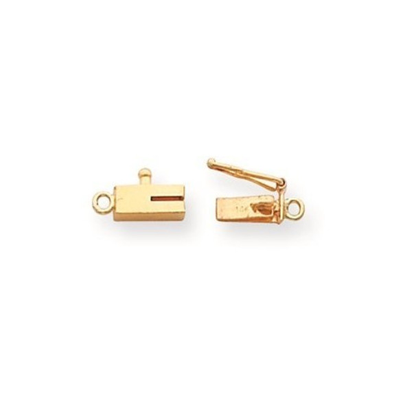 7.6mm x 3mm 14k Yellow Gold Replacement Tongue for Rectangle Barrel Clasp