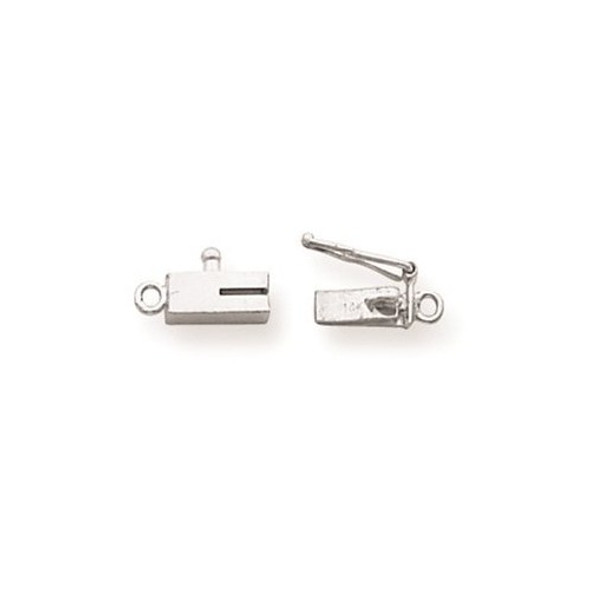 7.6mm x 3mm 14k White Gold Replacement Tongue for Rectangle Barrel Clasp