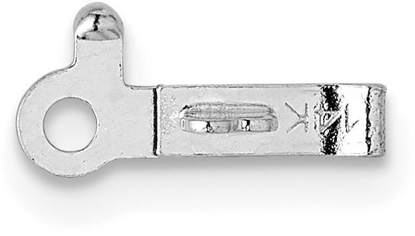 6.1mm x 1.9mm 14k White Gold Replacement Tongue for Barrel Clasp