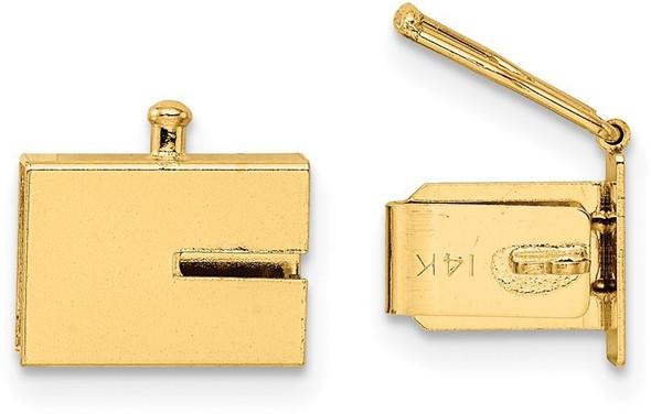 7mm 14k Yellow Gold Box Clasp