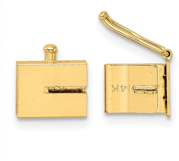 6mm 14k Yellow Gold Box Clasp