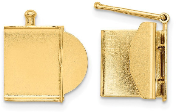 10.4mm 14k Yellow Gold Folded Tongue and Box Clasp