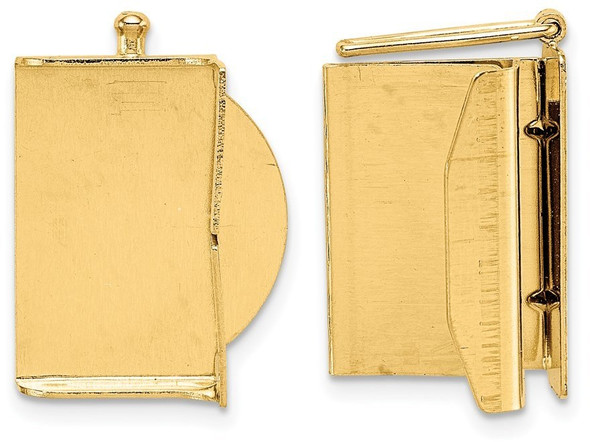 16.7mm 14k Yellow Gold Folded Tongue and Box Clasp