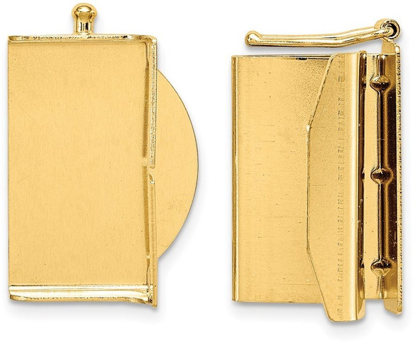 18.8mm 14k Yellow Gold Folded Tongue and Box Clasp