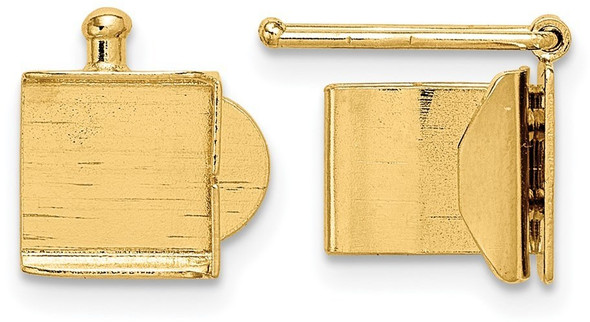 6.4mm 14k Yellow Gold Folded Tongue and Box Clasp