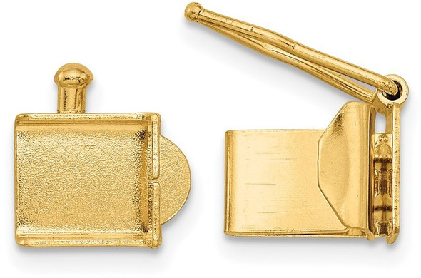 5.4mm 14k Yellow Gold Folded Tongue and Box Clasp