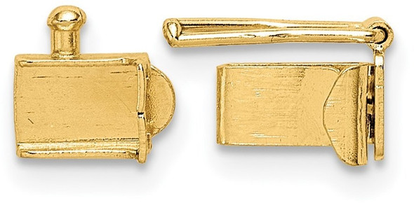 3.2mm 14k Yellow Gold Folded Tongue and Box Clasp