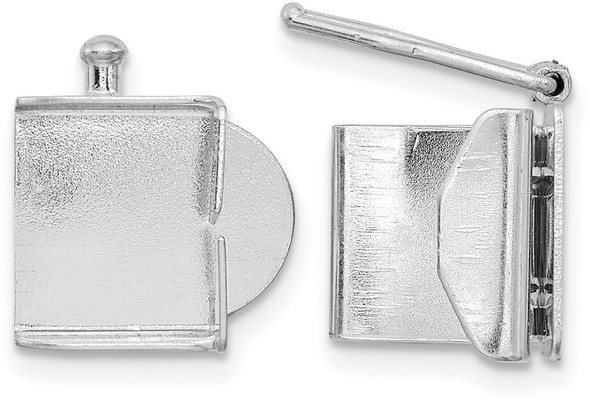 6.7mm 14k White Gold Folded Tongue and Box Clasp