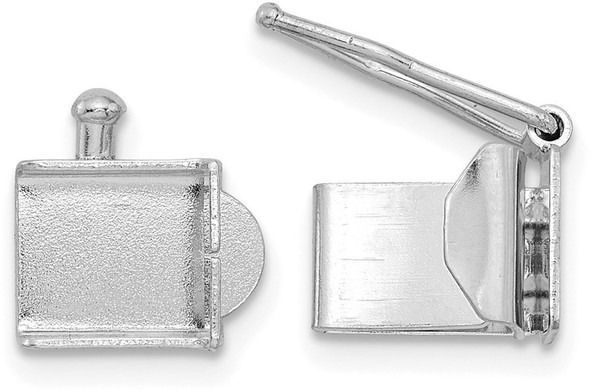 5.4mm 14k White Gold Folded Tongue and Box Clasp